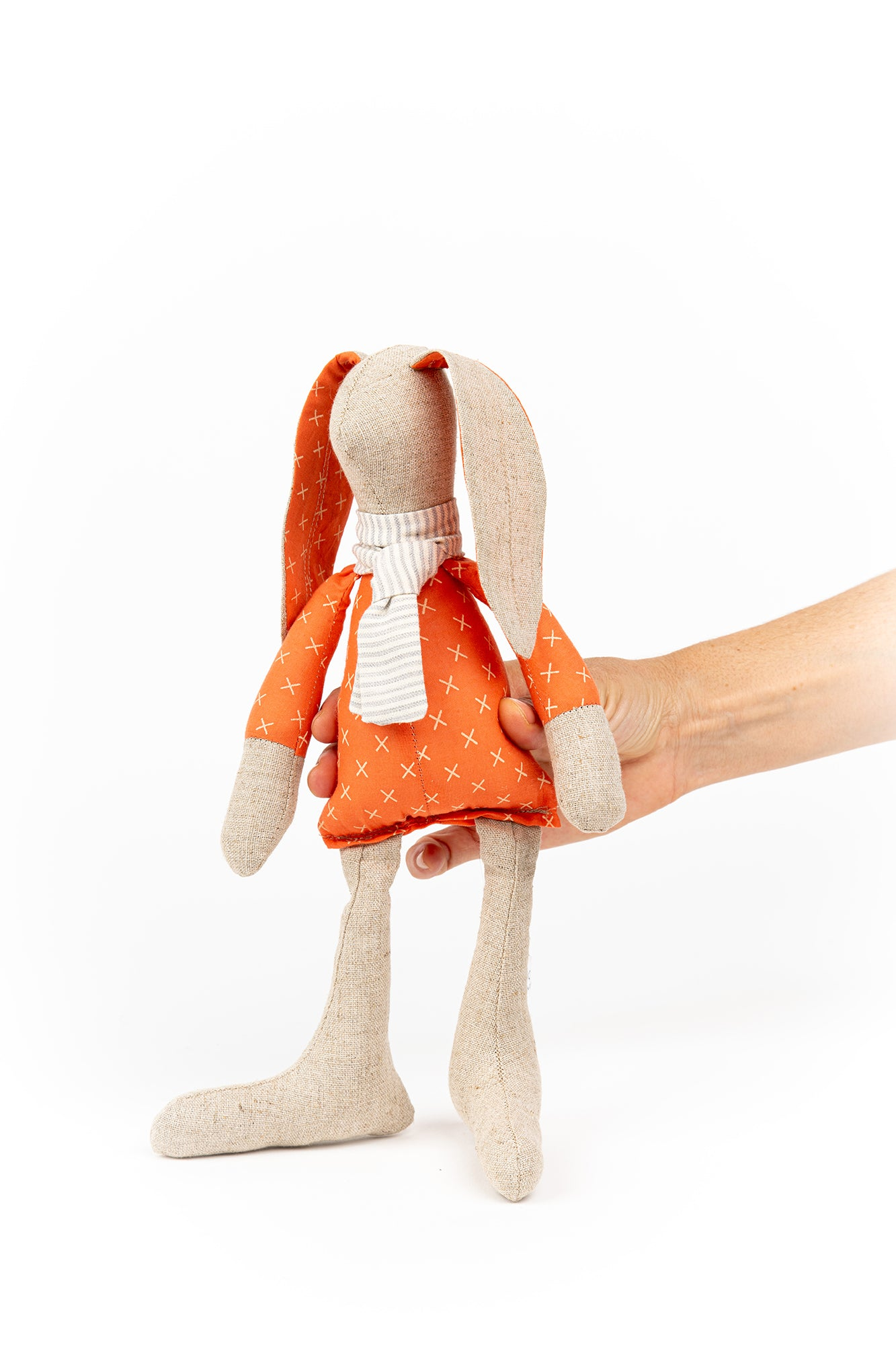 Handmad doll, stuffed animal, Rabbit doll, Fabric doll, Eco friendly gifts, Cloth dolls, Handmade animal doll, Baby room décor, Textile doll