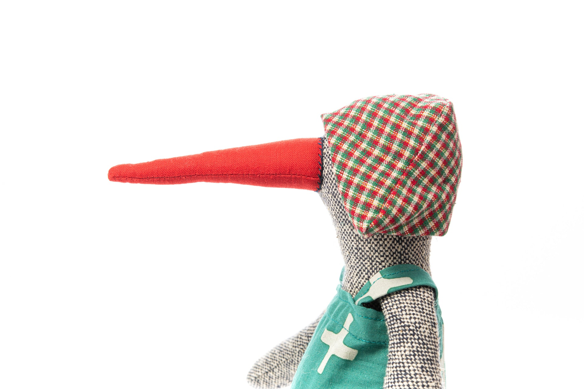 Black doll, Doll for girl, Girl birthday gift, Bird doll, Fabric doll, Handmade doll, Eco friendly gift, Plush doll, Handmade decor doll