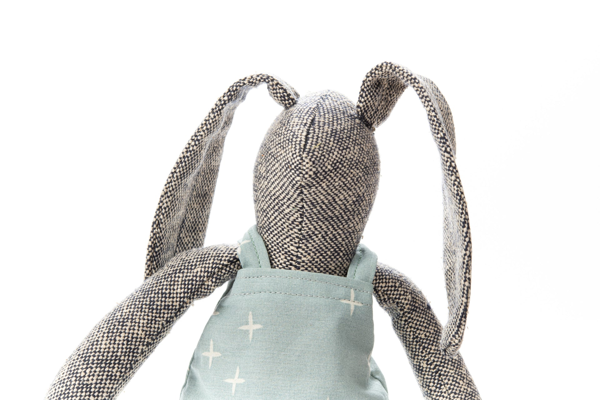 Plush bunny toy Bunny rag doll Handmade rabbit doll Stuffed toy Fabric bunny Doll Woven silk doll Softie Cuddling doll Baby girl gift