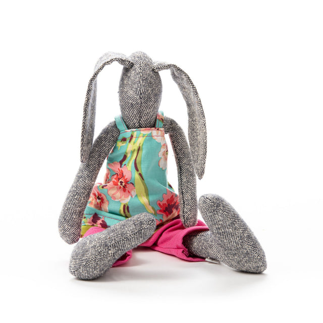 Unique doll, Fabric doll, Dark doll, Girls birthday gift, Textile art doll, Handmade bunny, Rabbit doll, Rabbit plush, Baby room décor