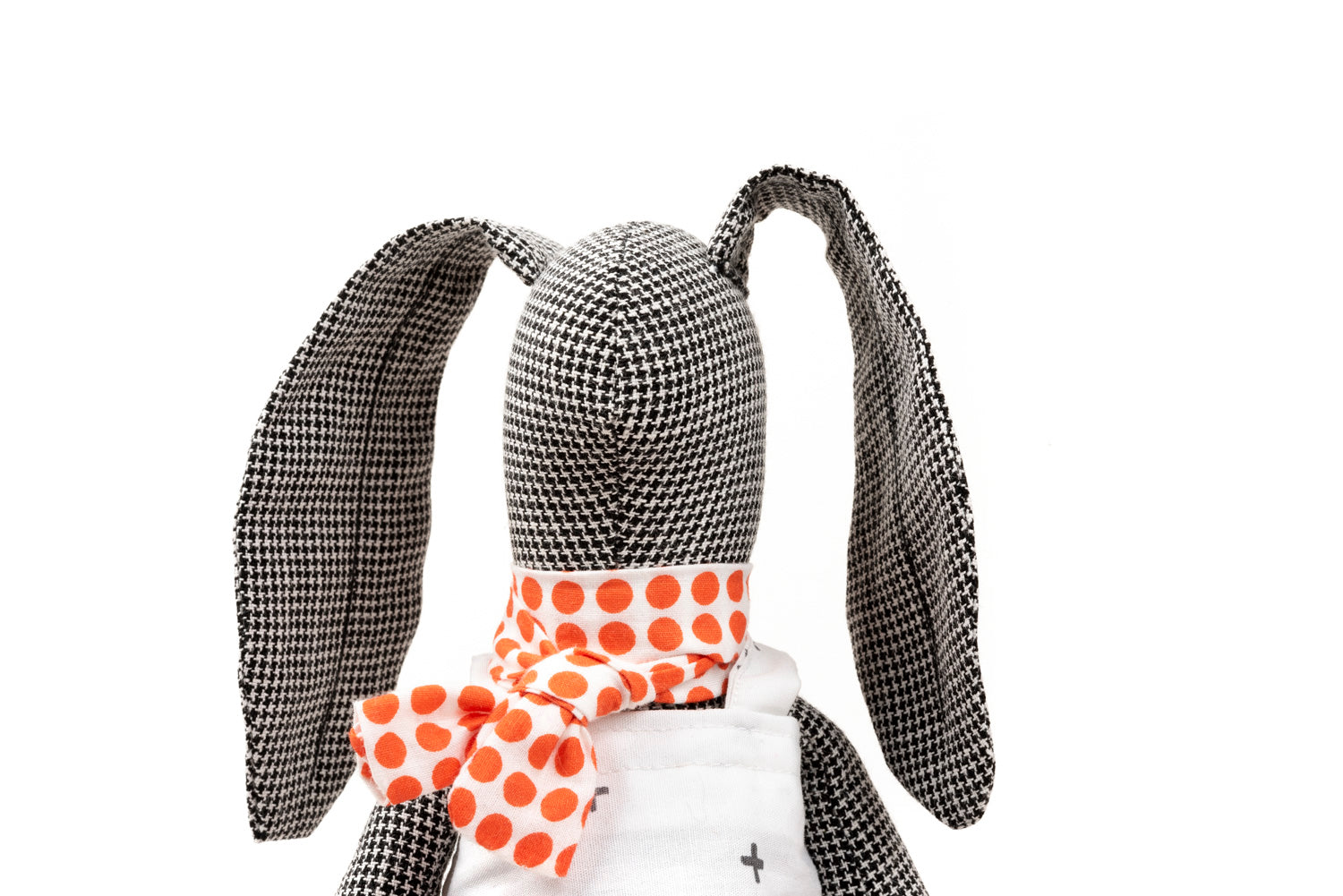 Girl gift Stuffed bunny doll Black doll Handmade eco doll Cuddling doll Plush rabbit Art doll bunny Soft toy Cloth doll Modern rag doll