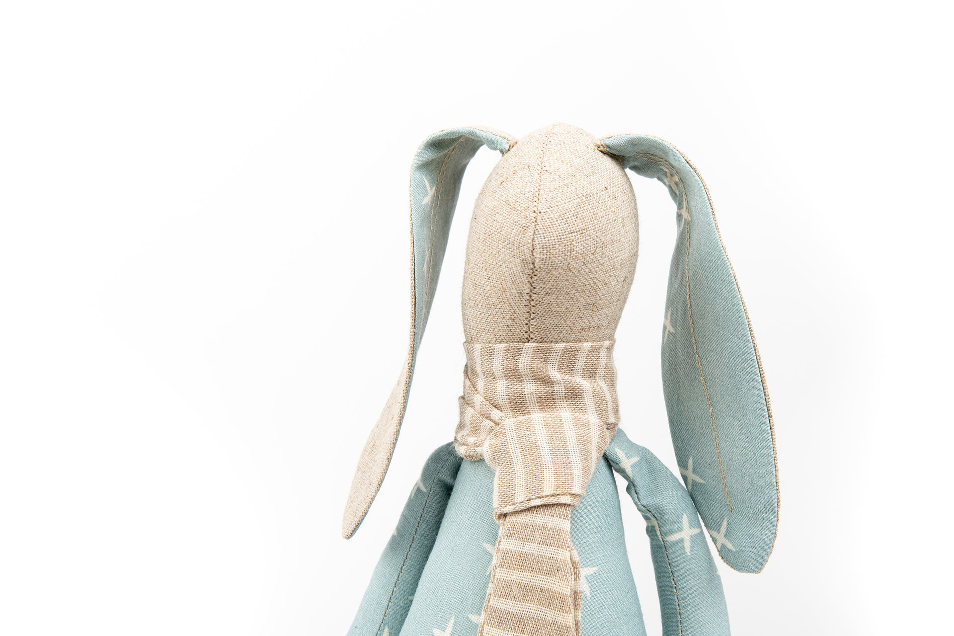 Linen bunny Eco Fabric Doll Soft Toy Baby bunny doll Stuffed animal toy SMALL rabbit doll Cloth Bunny Rag Doll Plushie Softie Doll Cuddling