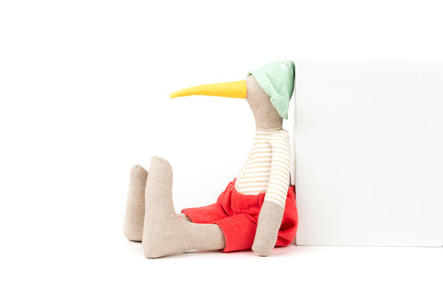 Stocking stuffer Linen doll Stuffed animal Bird doll Handmade geese Minimalist doll Modern Plush bird Timo handmade Eco toy Heirloom gift