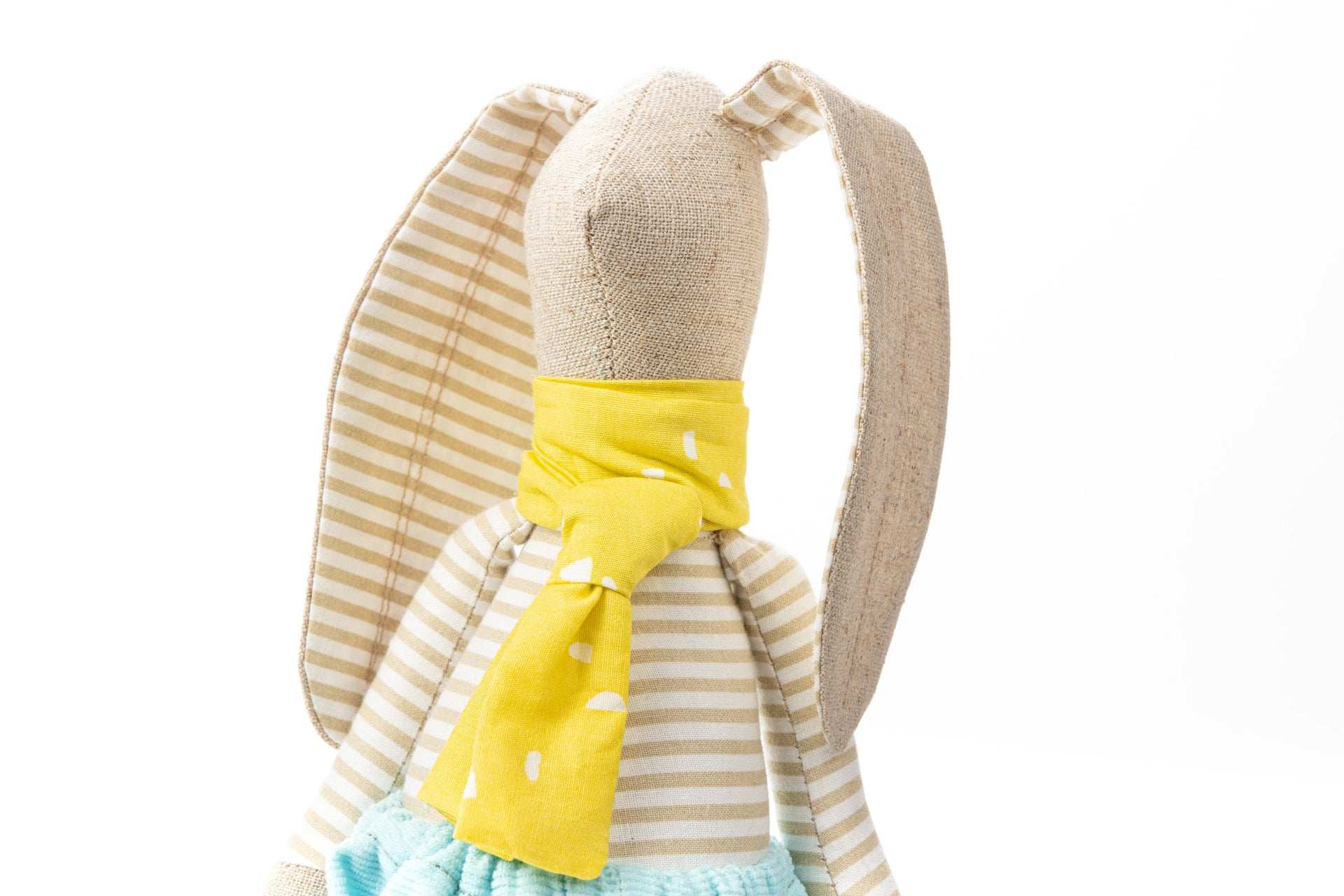 Stuffed animal, Handmade bunny, Nursery decor, Baby shower gift, Fabric dolls, Handmade decor doll, Rabbit doll, Set of 2, Twins gift, Hare