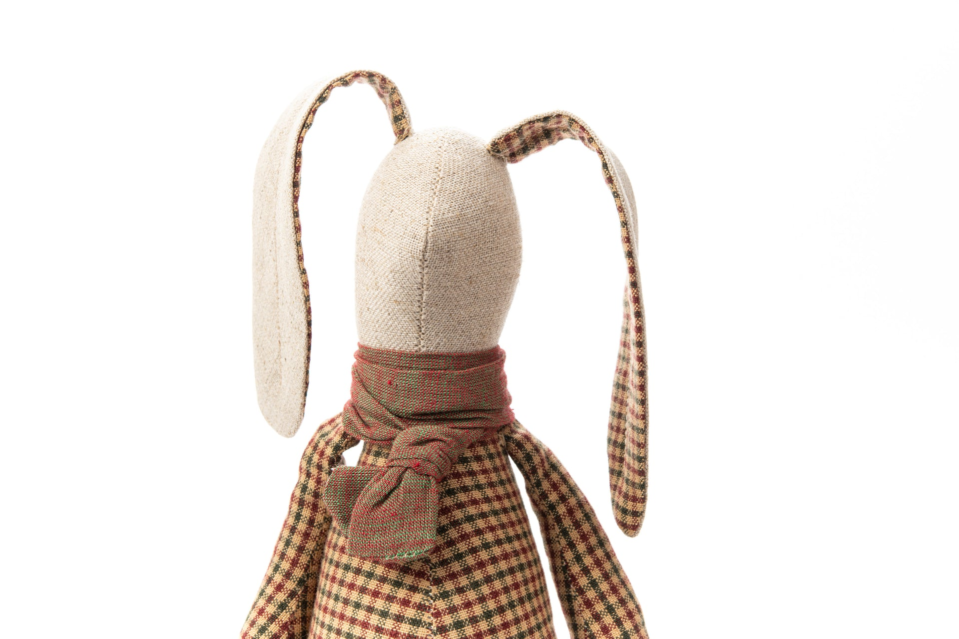 First baby toy Linen rabbit Handmade bunny Decorative doll SMALL doll stuffed animel Fabric rag doll Baby shower gift Gender neutral toy
