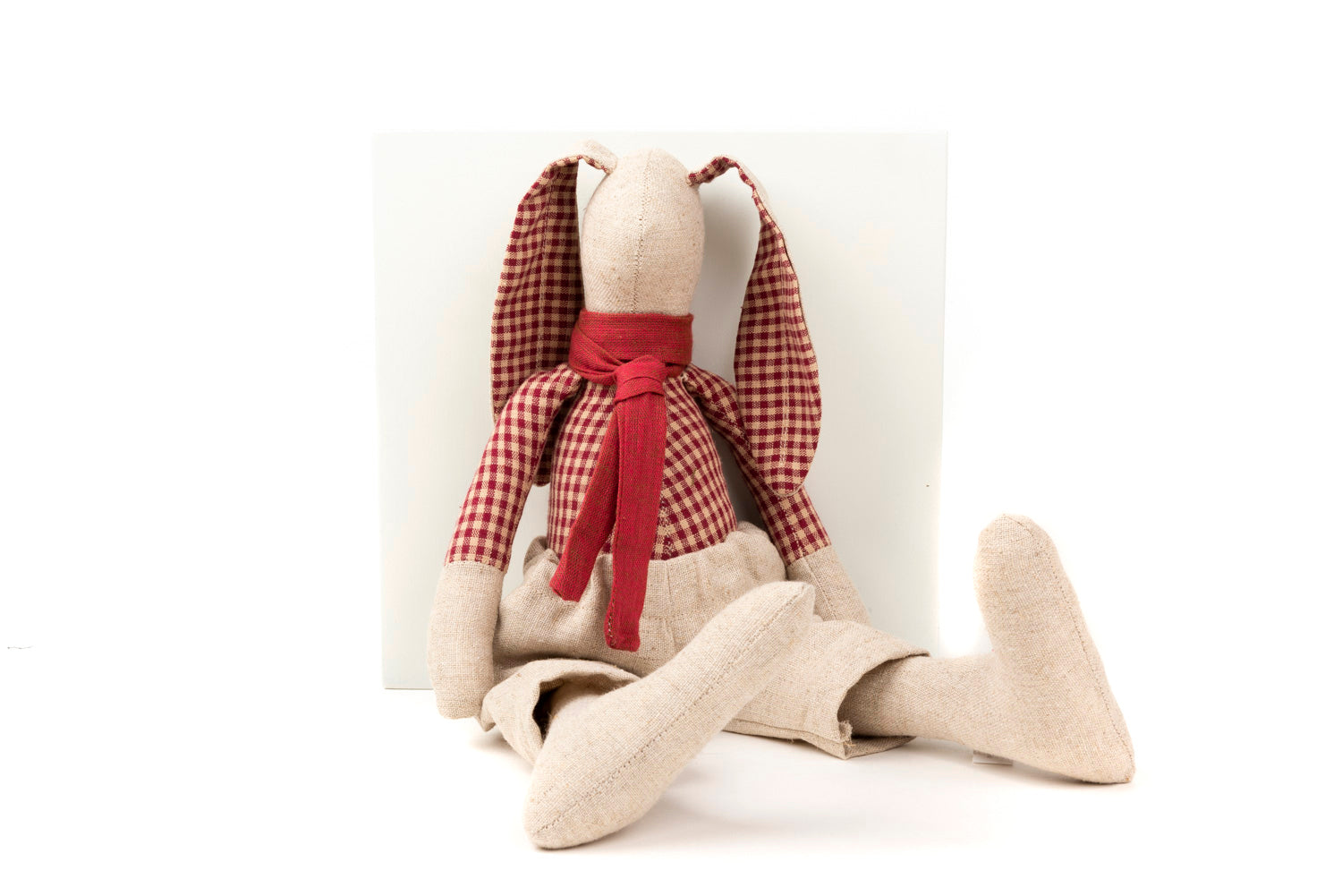 Stuffed bunny Rabbit doll Rag doll Fabric Doll Plushie softie Handmade linen doll Nursery decor Gift for baby boy Cloth doll Stuffed animal