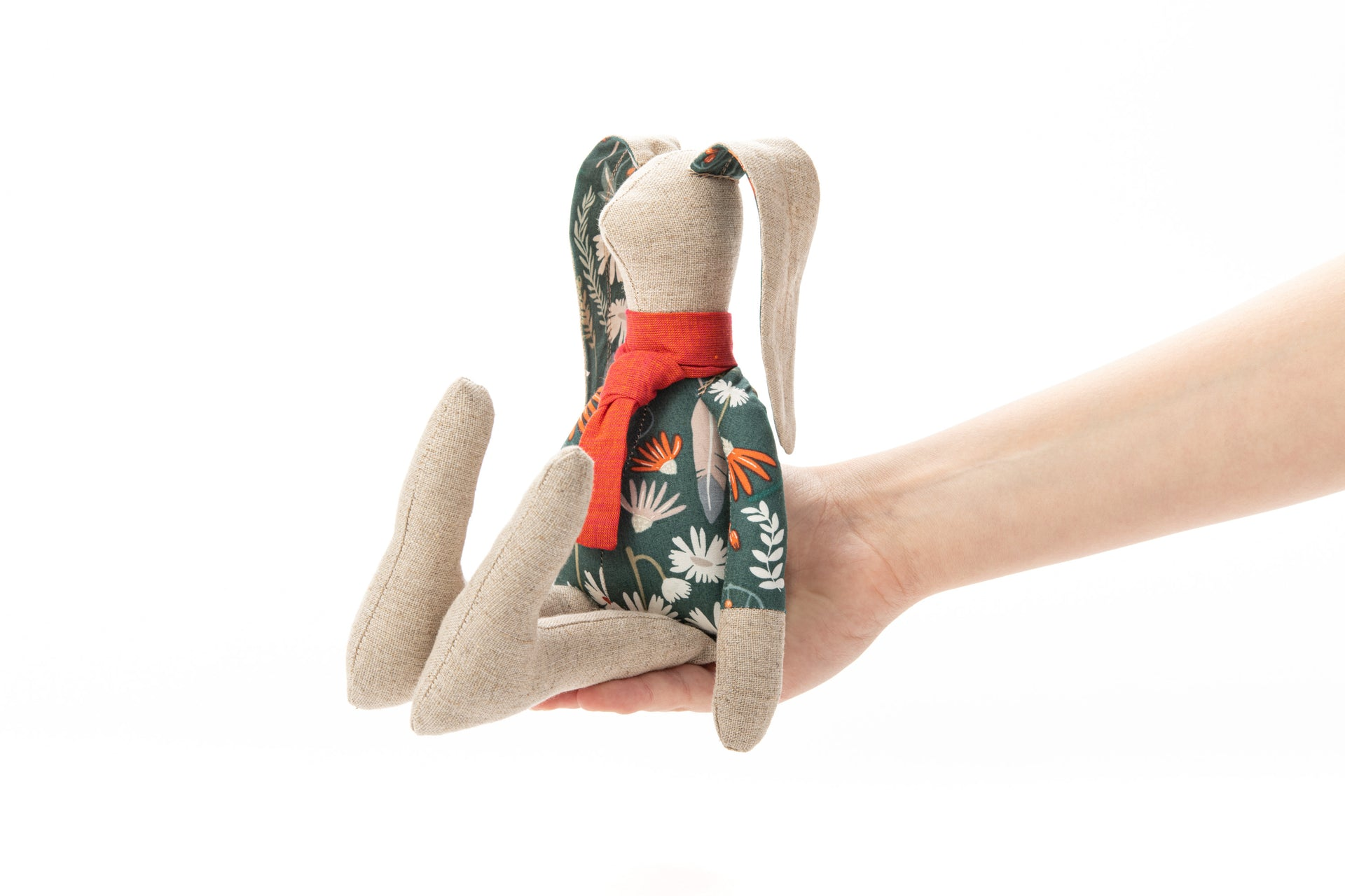 Spring Decor Handmade bunny Linen toy Stuffed animel Plush rabbit Textile bunny Children's gift Rabbit cloth doll Rag doll Heirloom doll