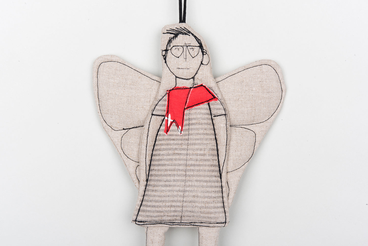 Valentine's Day gift, Home decor doll, Angel doll, Fairy doll, Hanging angel, Non binary gift, Hipster doll, Gender free gift, Linen doll