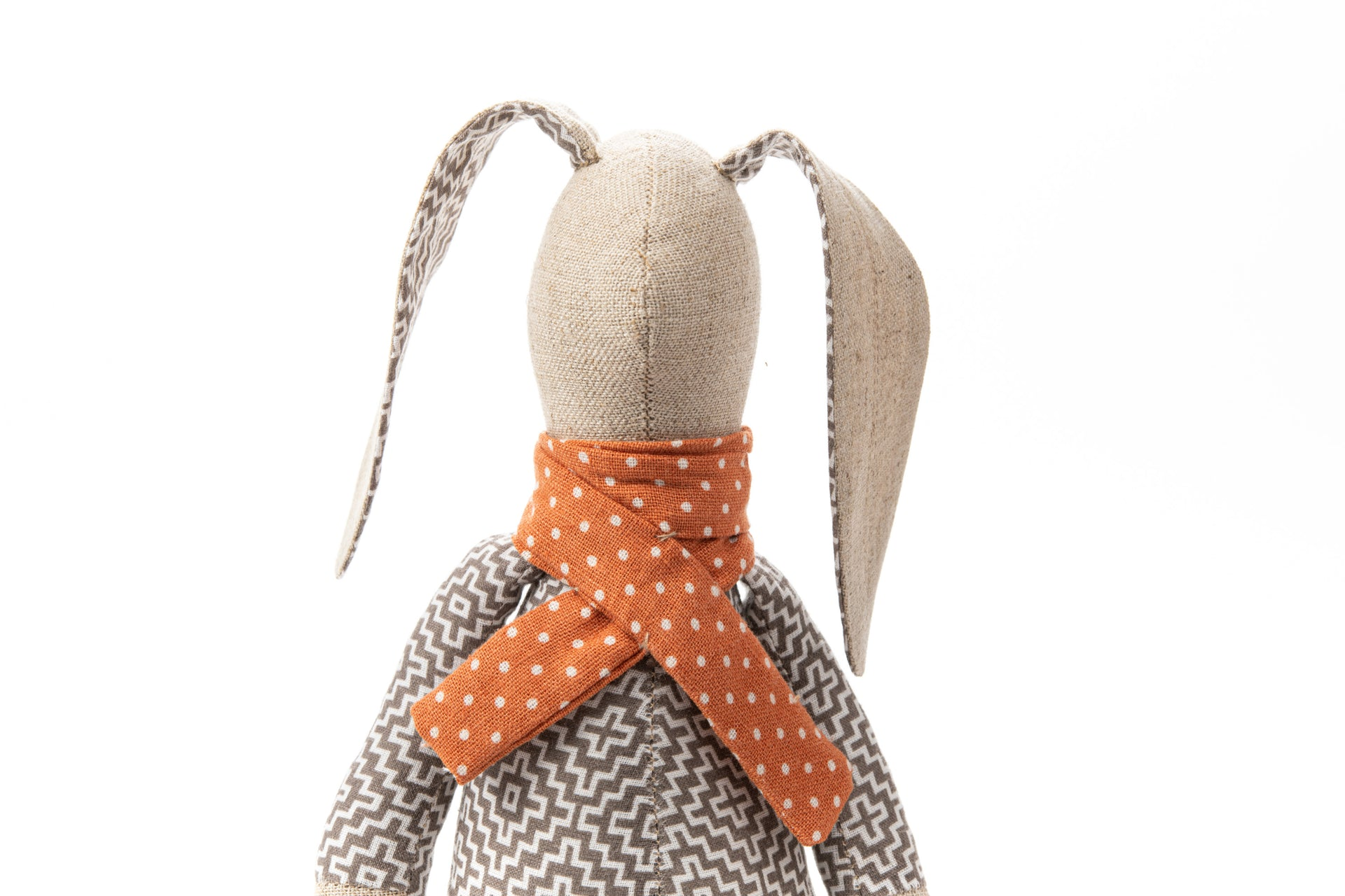Art doll, Stuffed animal, Rabbit doll, Fabric doll, Ecofriendly gift, Cloth doll, Handmade animal doll, Stuffed bunny, Gender neutral gift