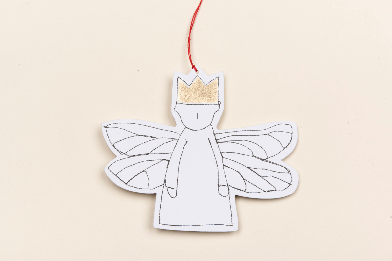 Angel ornament , Set of 5 , gold foil gift tags , Hanging Ornament , brown paper doll , Hanging Angel , rustic christmas , nursery decor