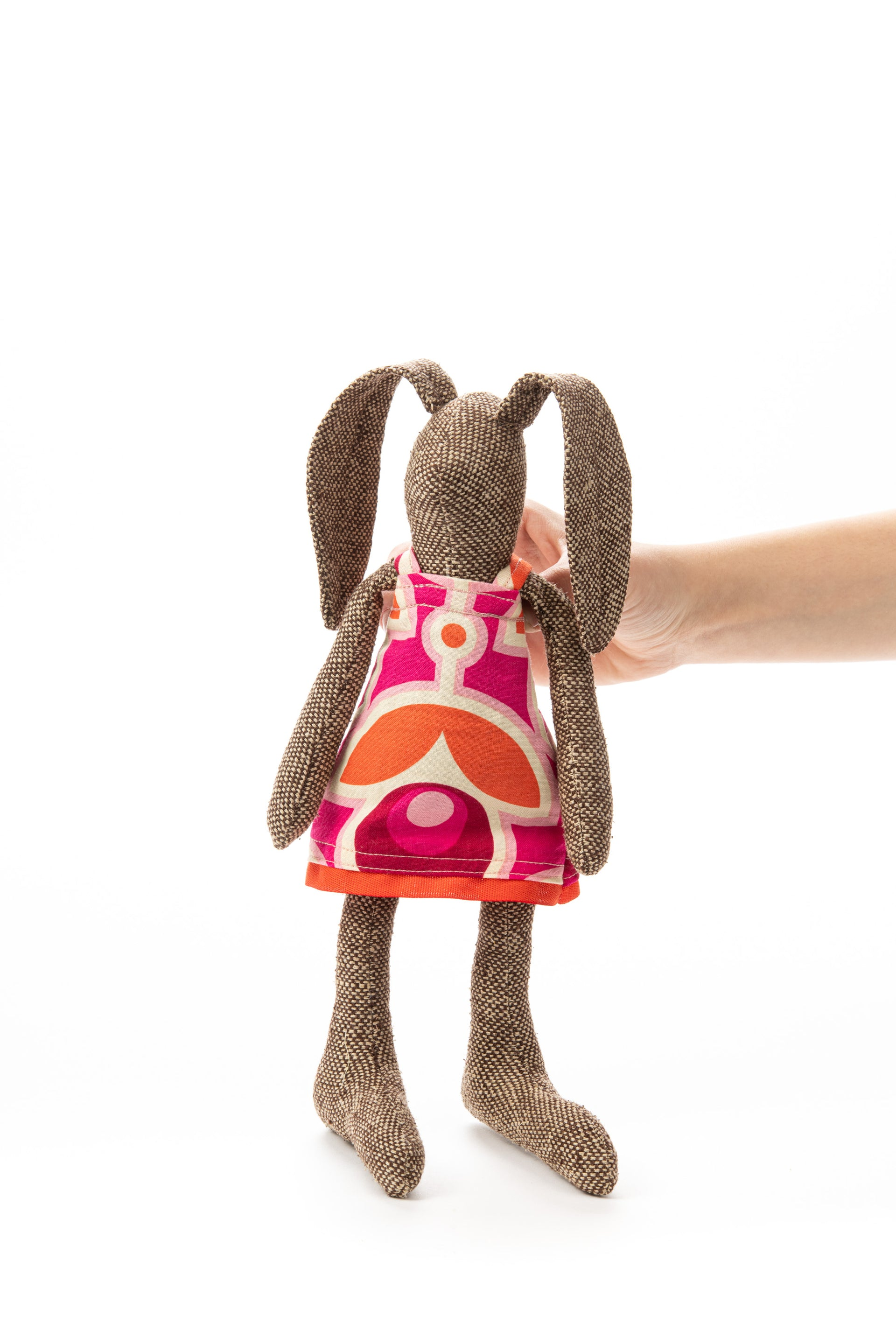 Girl nursery décor, Stocking stuffer, Eco toy doll, Handmade bunny, Girls birthday gift, Rabbit doll, Fabric doll, Dark doll, Stuffed doll