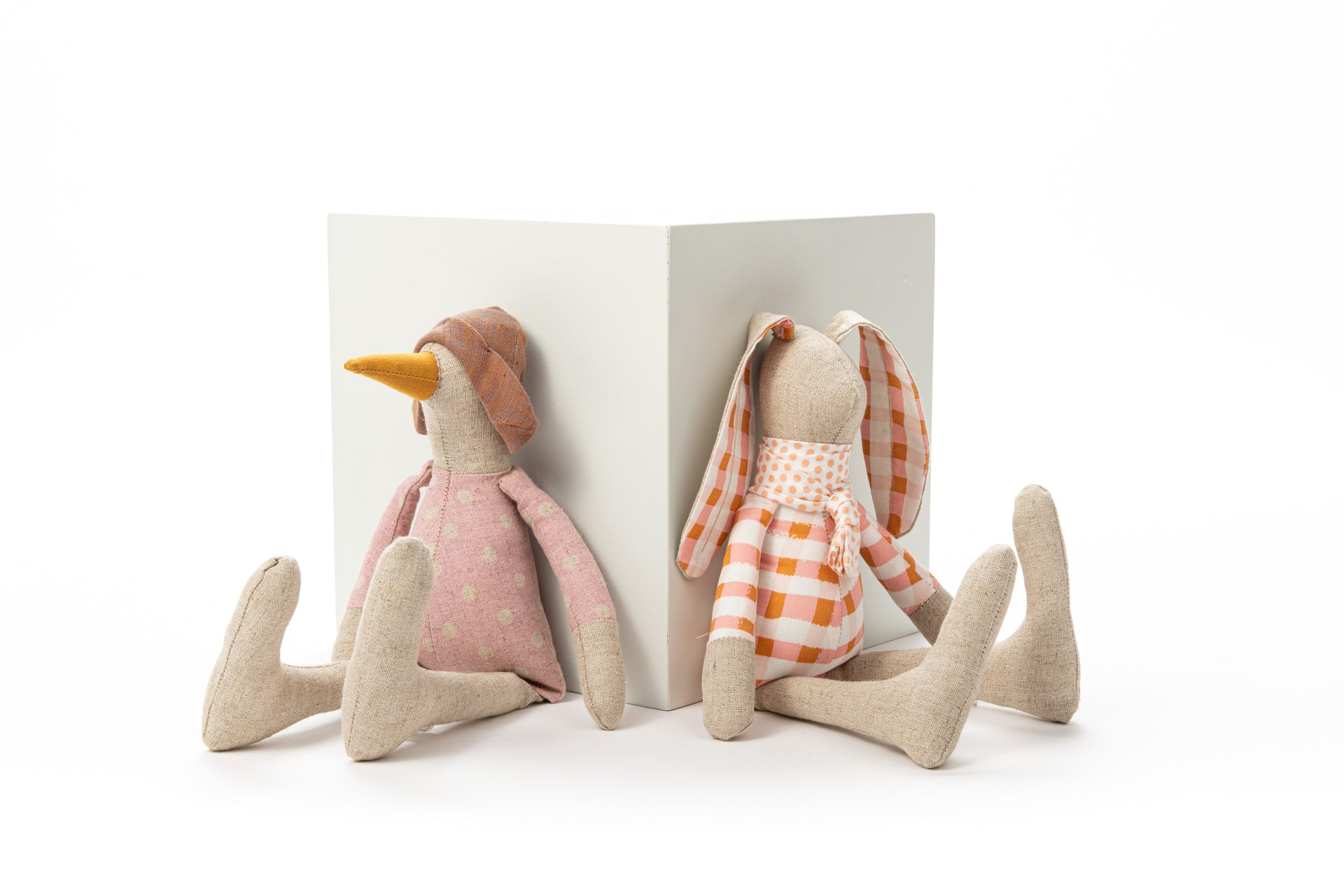 Handmade soft toy Gift for toddler Rabbit doll Linen doll Handmade doll Stuffed toy Plush bunny Stuffed animal Gender free gift Cloth doll