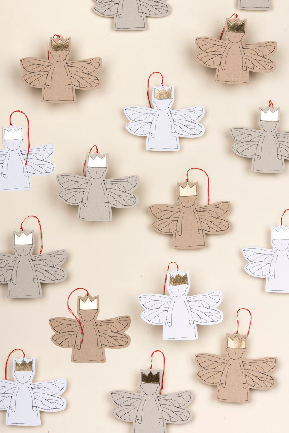 Christmas Angel Rustic holiday decor Christmas ornaments handmade Tree decoration Linen ornamet Modern christmas Hanging fabric ornament