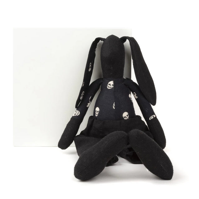 Doll toy, Black doll, stuffed animal, Rabbit doll, Handmade bunny, Eco friendly gift, Baby toddler kids, Home decor toy, Newborns gift idea