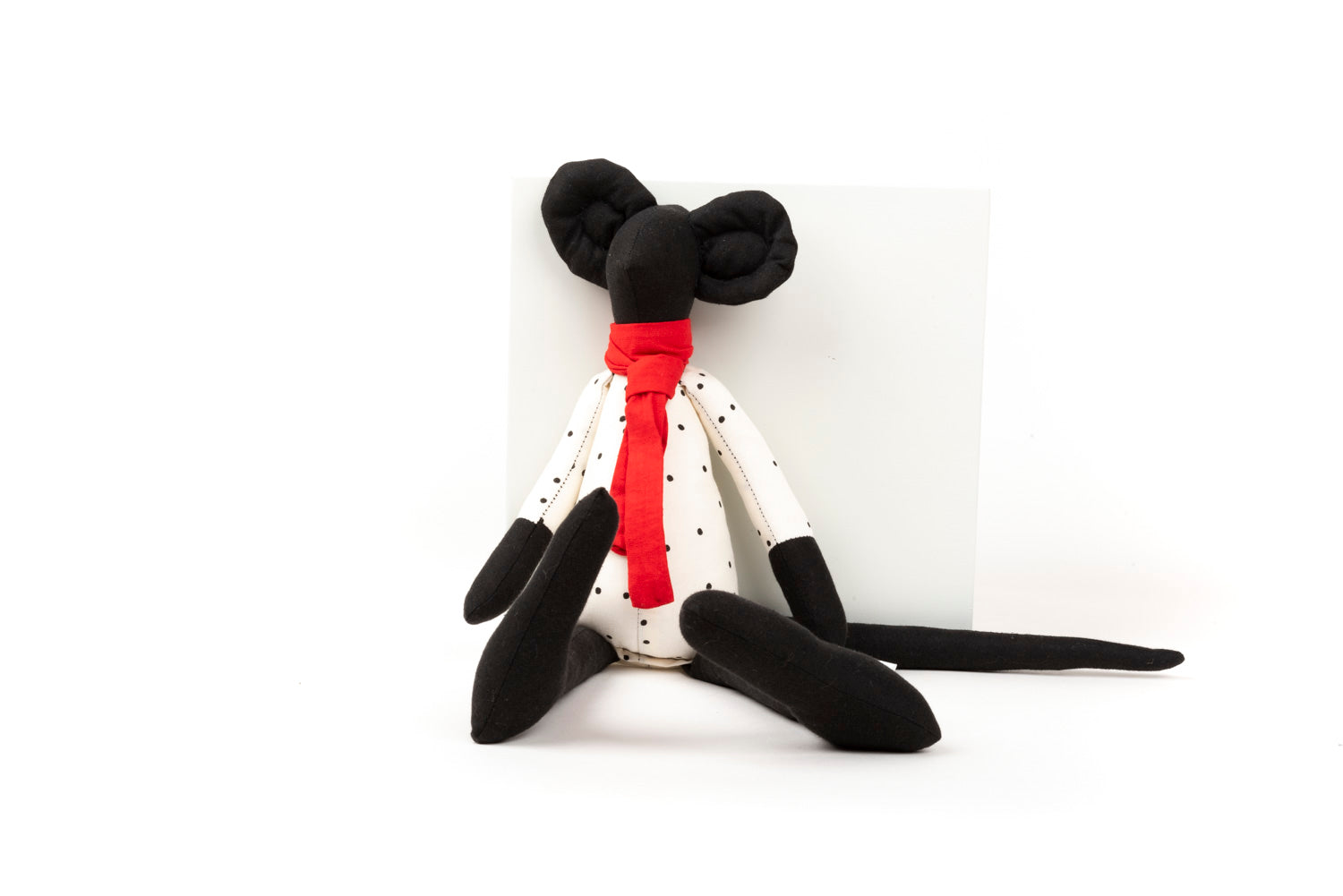 Black doll Mouse doll Gender free doll Stuffed animal Handmade doll Minimalist toy Fabric doll Eco Mice Fine toy Plushie doll First doll