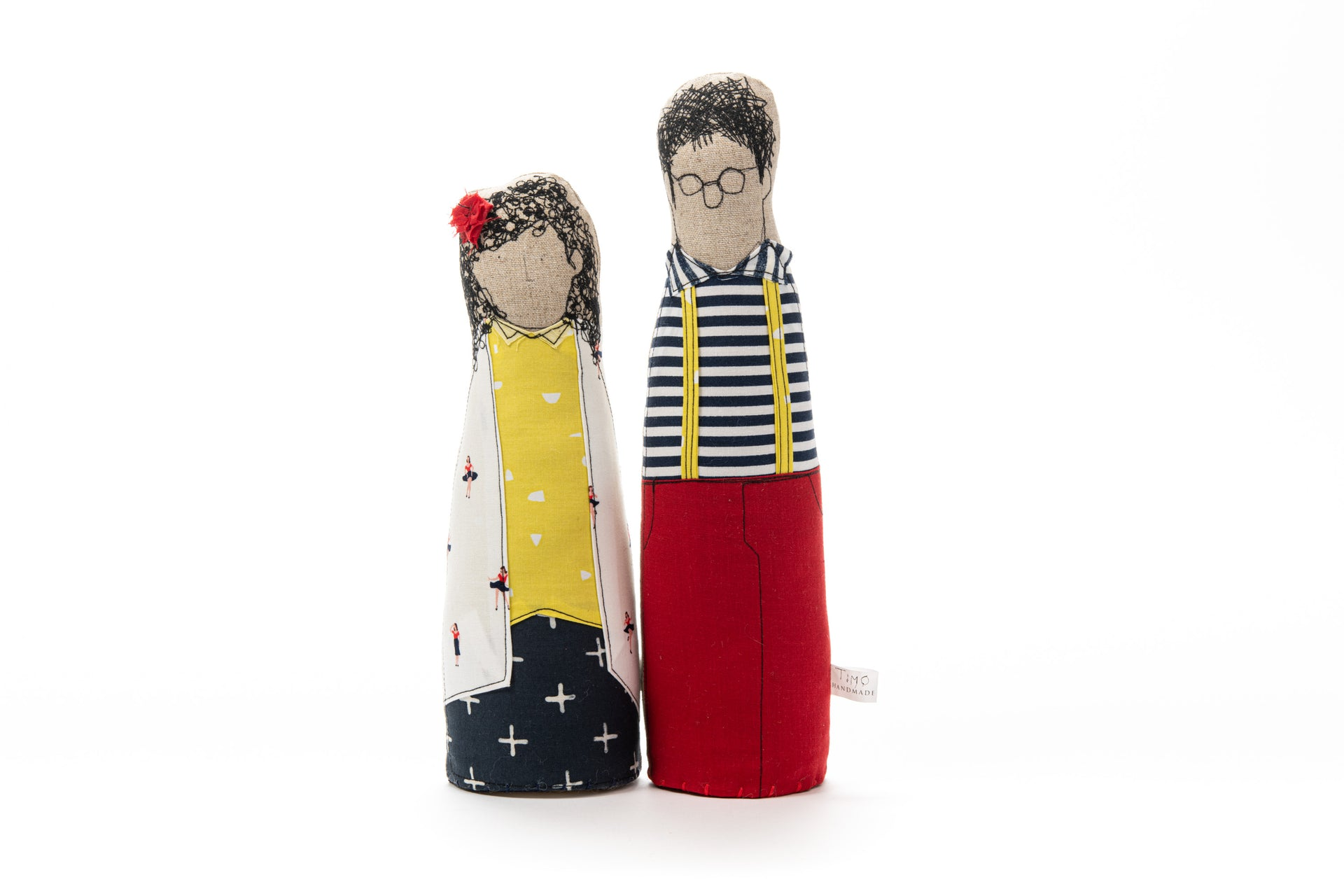 Family portrait dolls Dolls pair Soft sculpture Character dolls Likeness fabric dolls Couple gift Handmade decor Wedding anniversary gift