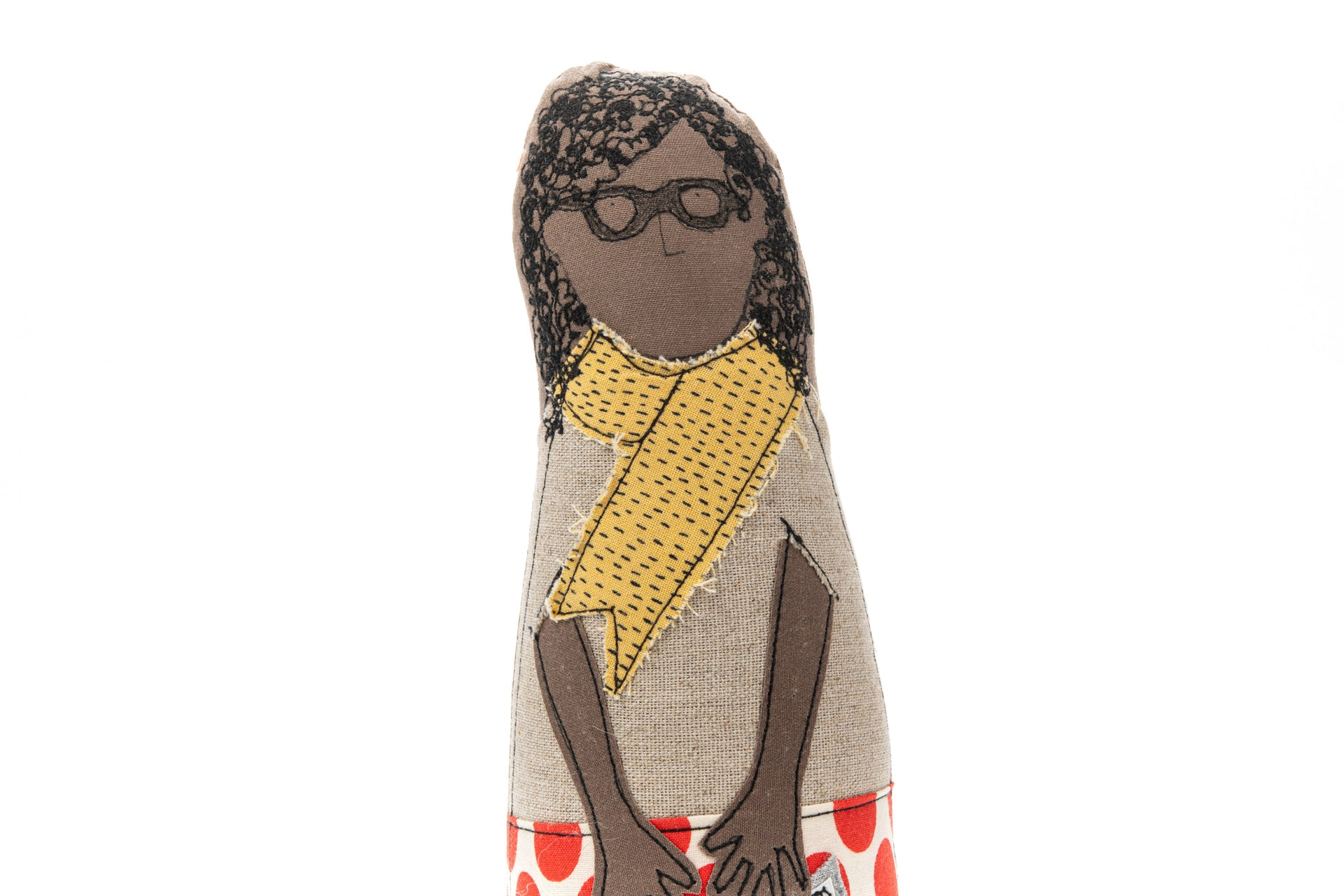 Teacher gift African american doll Brown doll Portrait doll Fabric woman doll Mom gift Family doll Soft sculpture Handmade doll Decor doll