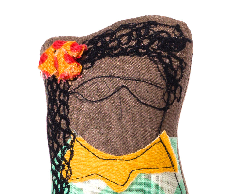 Interior doll, Mom gift, Fabric doll, Handmade portrait, Soft sculpture, Black doll, Family dolls, Portrait doll, Handmade doll, Woman doll