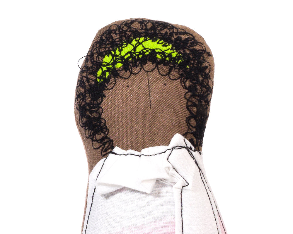 African american doll Ombre pink Handmade doll Afro doll Black doll Portrait doll Woman doll Mom gift Family doll Soft sculpture Art doll