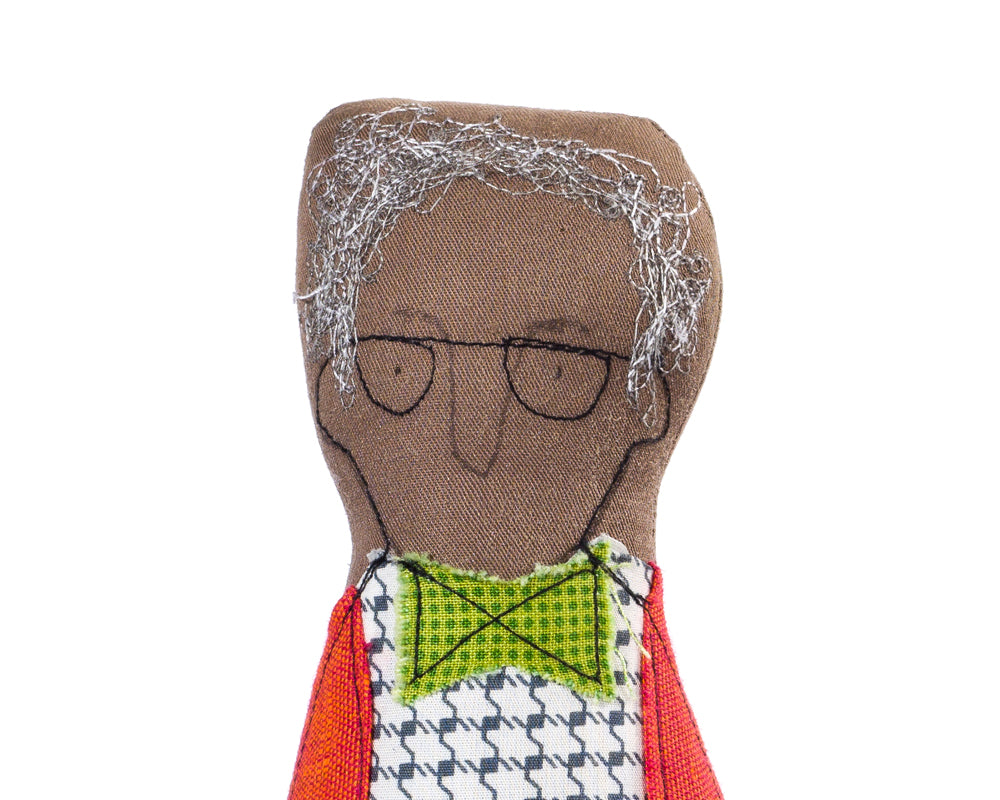 Handmade doll, Portrait doll, Men doll, Family Portrait, Soft sculpture, Black doll, Fabric doll, Gray hair doll, Dad gift, Grandfather gift