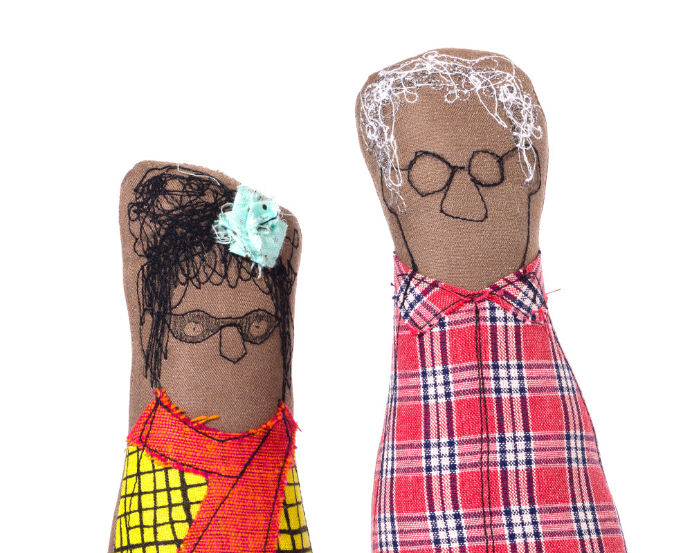 African American , Family Portrait dolls , Couple gift , Black dolls , Soft sculpture , Grandparents וnique gift , Fiber Sculpture , Soft toy , Fabric doll