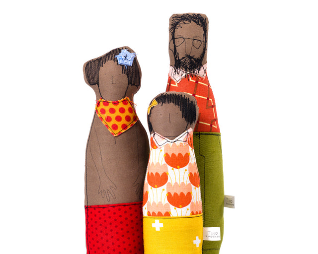 African American , Family Soft sculpture , Black dolls , Couple gift , Cloth dolls , Family Portrait , Girl Room Decor , Handmade gift , Textile art