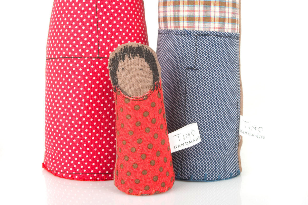 Personal Portrait , Family portrait , likeness dolls , look alike dolls , African american dolls , Parents & girl , handmade soft sculpture-TIMO-HANDMADE