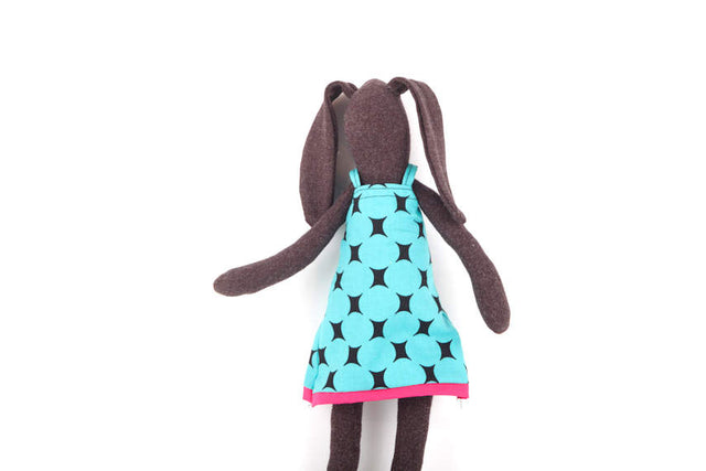 Stuffed animal , Easter rabbit , soft doll , Cuddling bunny , black doll , rabbit doll , plush doll , baby girl nursery , Plushie Softie-TIMO-HANDMADE