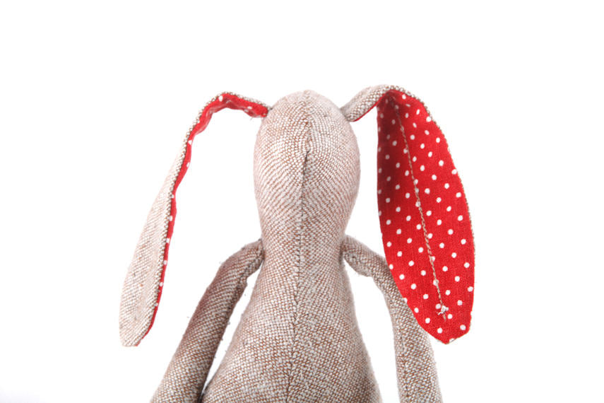 Easter bunny doll , rabbit doll , Small doll , Plushie Softie , fabric doll , soft toy , oneofakind doll , easter gift , Minimalist doll-TIMO-HANDMADE