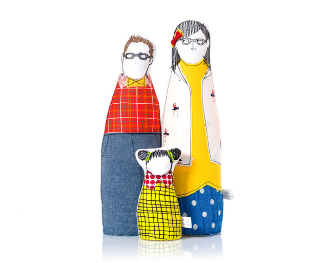 Family Portrait dolls , Personal family , hipster Family , handmade soft sculpture ,3D family portrait , likeness doll , Parents girl dolls-TIMO-HANDMADE
