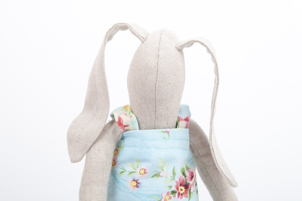 Crib Nursery Decor , Easter bunny , cloth stuffed linen doll , Bunny softie , toddler gift , new baby gift , flower girl gift , cute doll-TIMO-HANDMADE