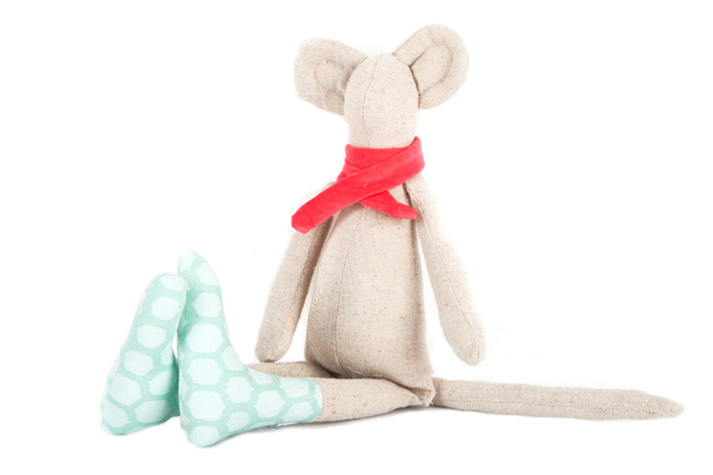 Mouse plush toy , Fabric Mouse doll , softie plush , stuffed animal , Timohandmade doll , Modern Nursery , Children room decor , mice toy-TIMO-HANDMADE