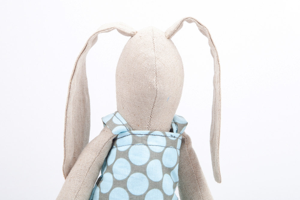 Easter bunny doll , soft rabbit , cuddling doll , stuffed doll , huggable toy , Ragdoll toy , babyshower present , Plushie Softie doll-TIMO-HANDMADE