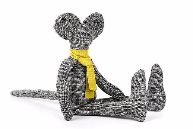 Plush toy doll, Handmade mouse, Fabric doll, Black doll, Mouse doll, Eco friendly gifts, Handmade animal doll, Baby room décor, Fine toy