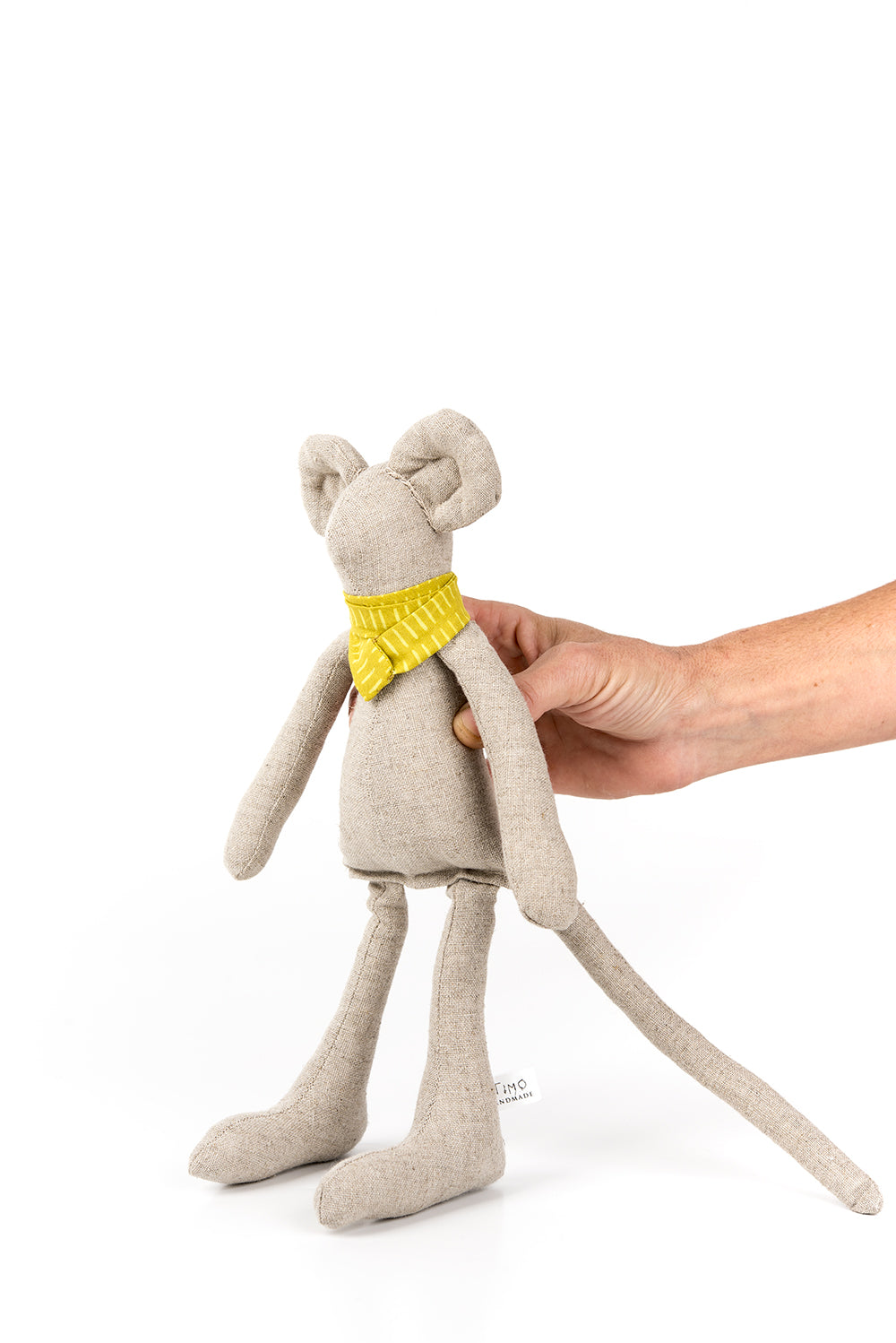Textile toy , Handmade mice doll , SMALL Linen Mouse doll , Minimalist Ragdoll , Soft doll , Mouse cloth toy , Heirloom doll , Interior doll , First doll