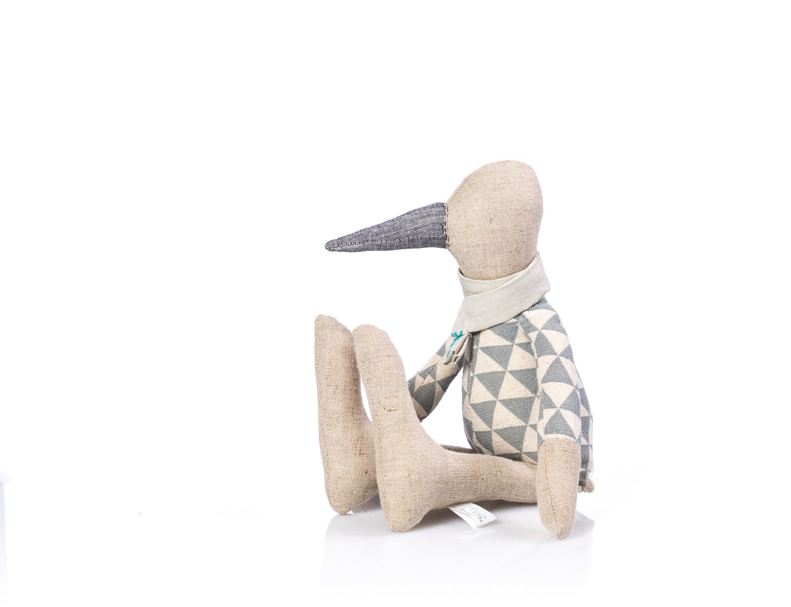 Handmade Plush toy, Stuffed animal, Baby room décor , Ecofriendly toy, Handmade bird, Bird doll, Doll toy, Linen doll, Fabric doll, Duck