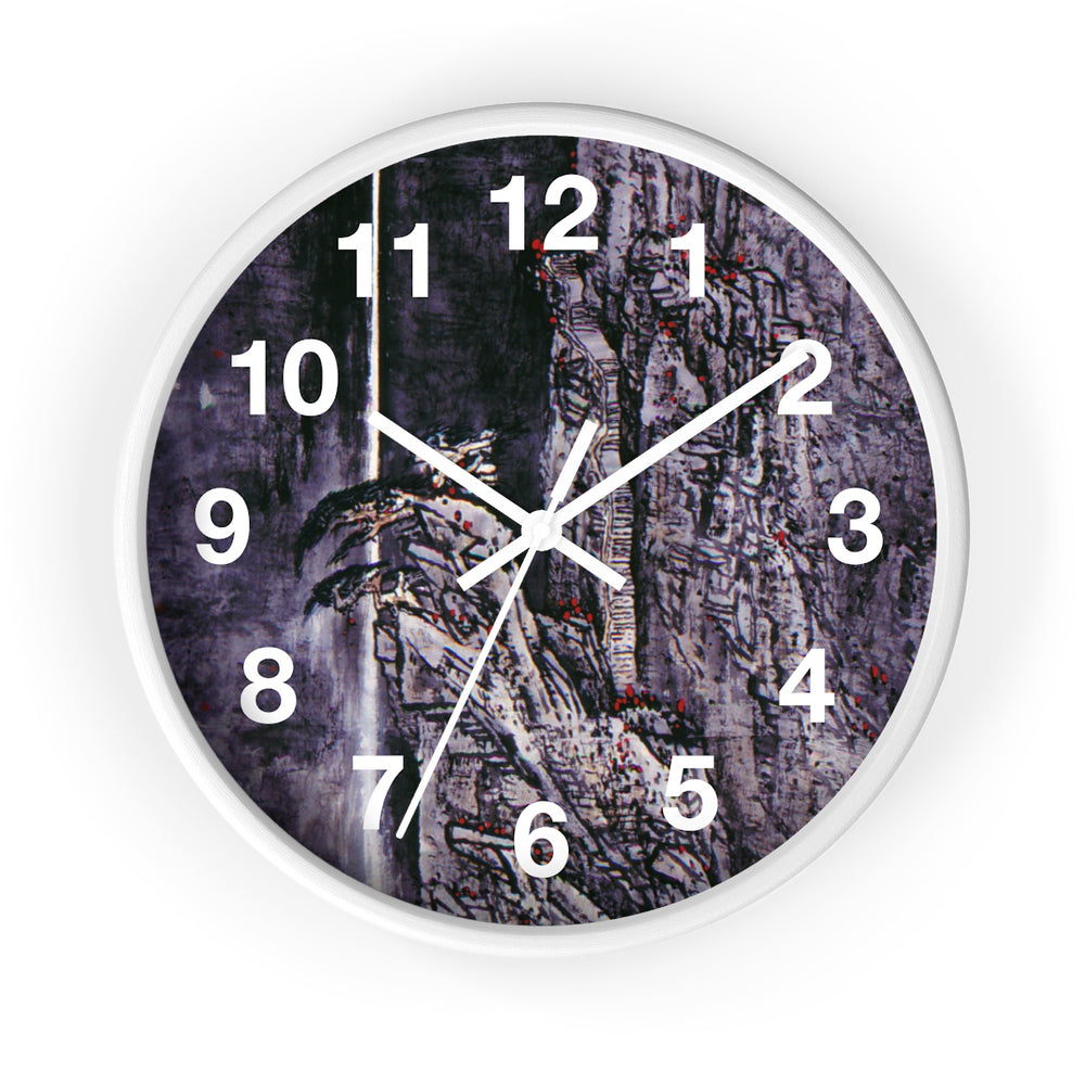 Spirit of the Mountain Wall Clock-White-Zen Art Shop
