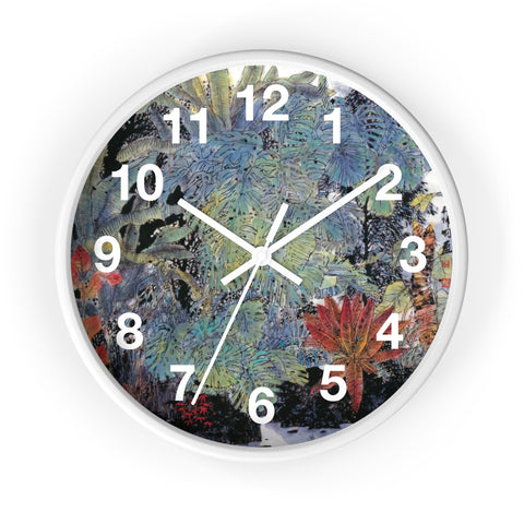 A Summer Day Wall Clock-White-Zen Art Shop