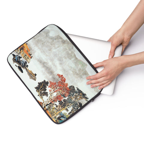 "Quiet and Remote Laptop Sleeve-15""-Zen Art Shop"