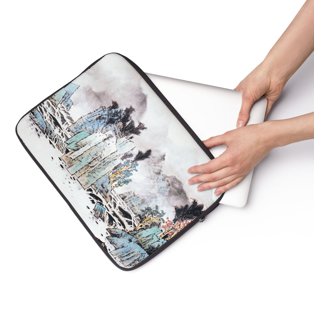 "Mountain and Water Laptop Sleeve-12""-Zen Art Shop"