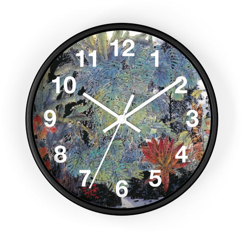 A Summer Day Wall Clock-Black-Zen Art Shop