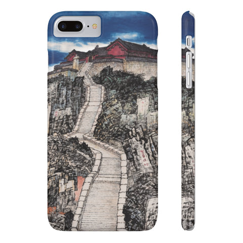 Jade Emperor's Peak Phone Cases-iPhone 7 Plus, iPhone 8 Plus Slim-Zen Art Shop