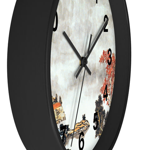 Quiet and Remote Wall Clock-Black-Zen Art Shop