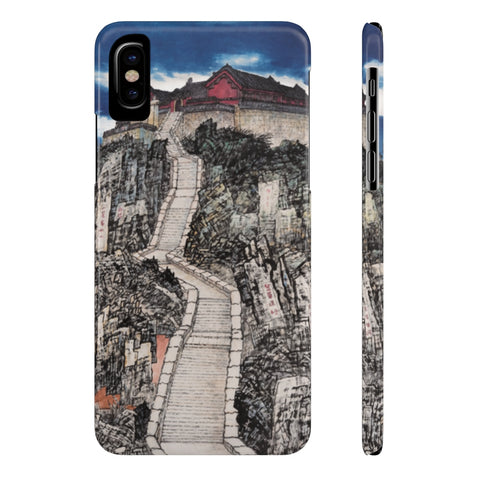Jade Emperor's Peak Phone Cases-iPhone X Slim-Zen Art Shop