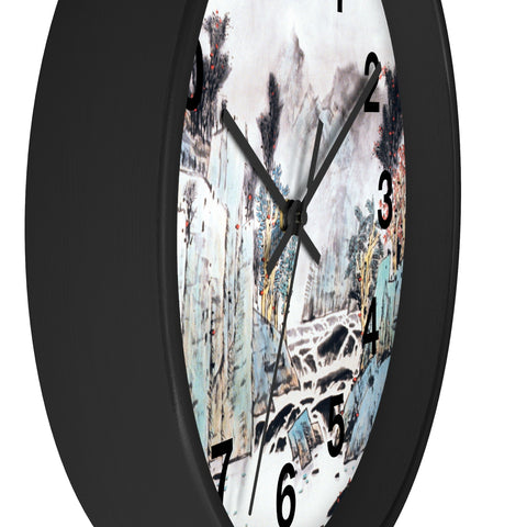 Mountain and Water Wall Clock-Zen Art Shop