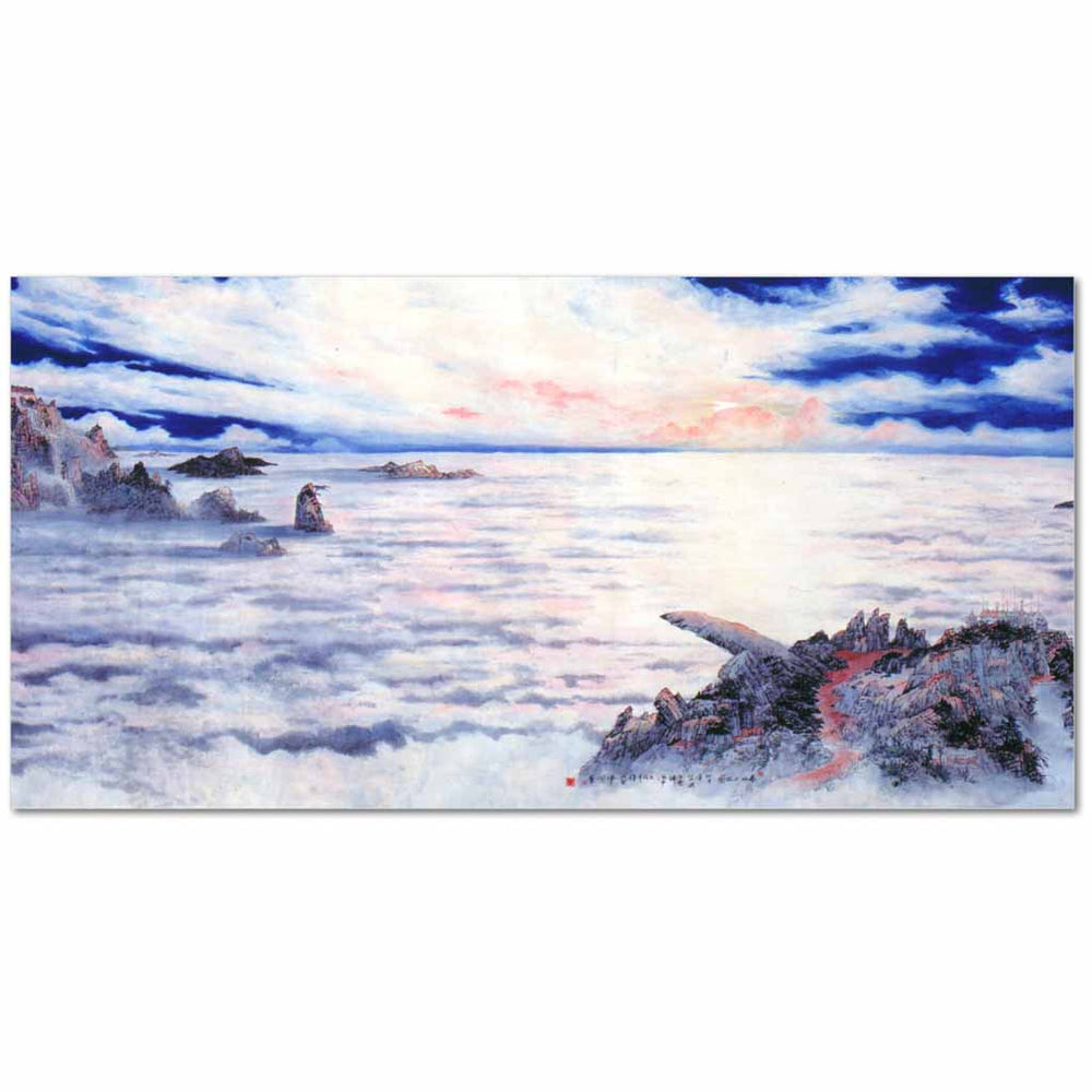 "The Sea of Cloud-20""x10""-Zen Art Shop"