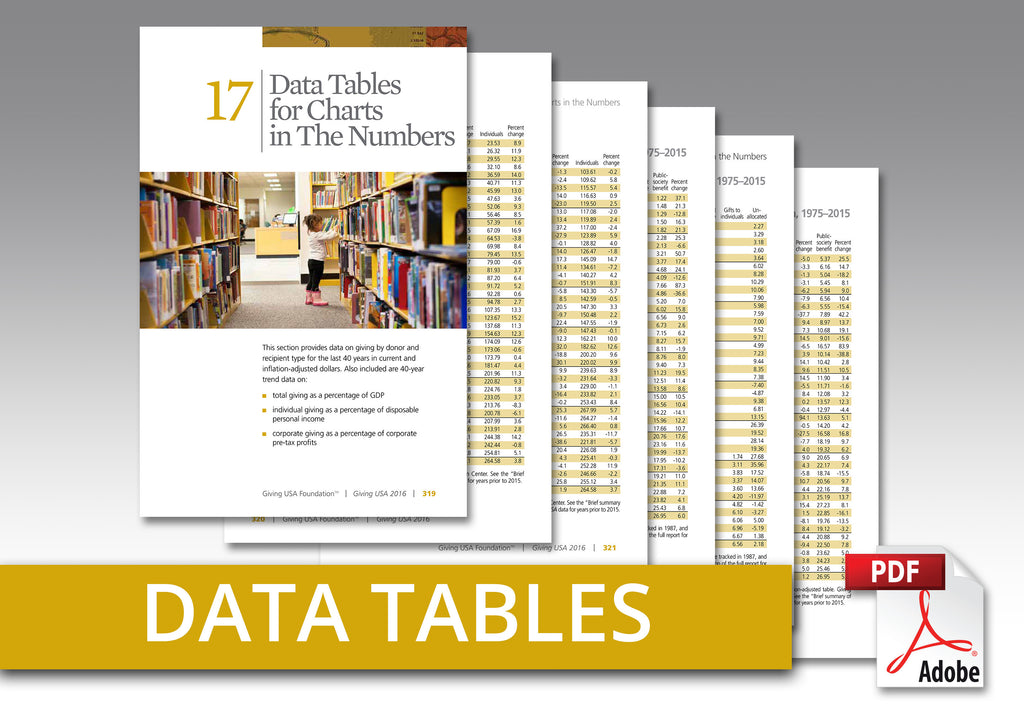 Giving USA 2016 Data Tables