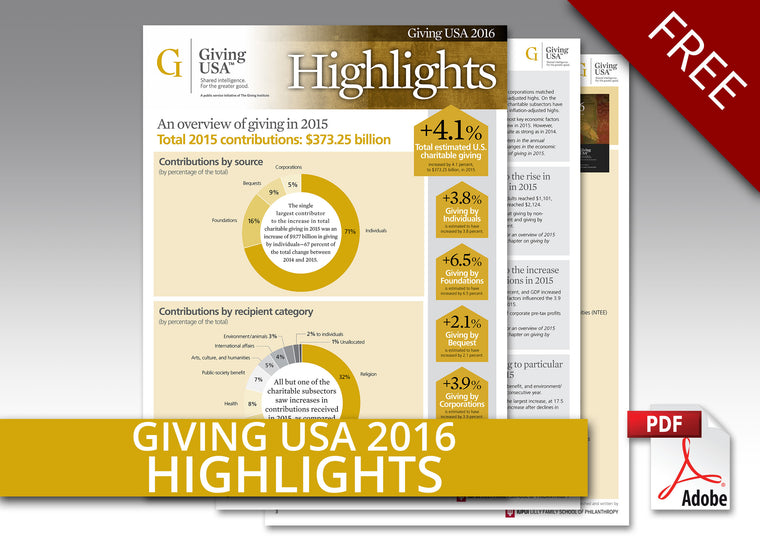 Giving USA 2016 Report Highlights