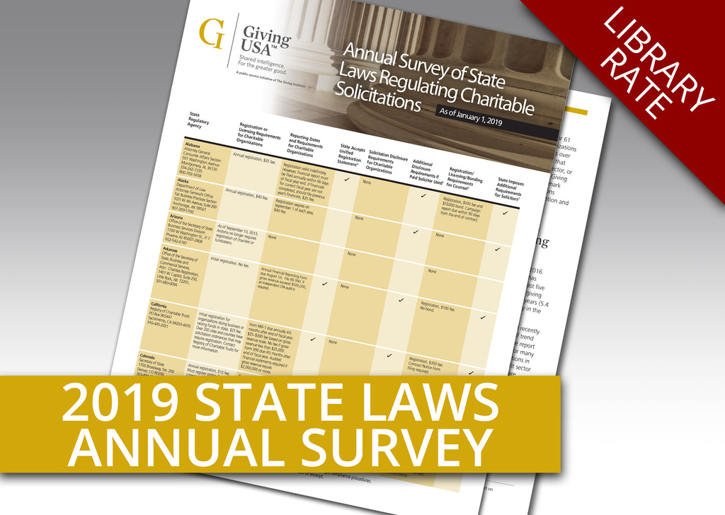 2019 Annual Survey on State Laws (Library Rate)