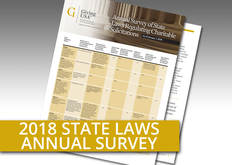 Giving USA: Annual Survey on State Laws Regulating Charitable Solicitations as of January 1, 2018